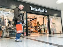 Timberland sklep, London fotografia stock