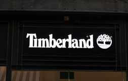 Timberland store in Amssterdam royalty free stock photography