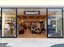 Timberland Store in Rome, Italy with people shopping. Stock Images