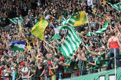 Timbers Army flags Royalty Free Stock Photo