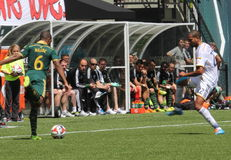 TIMBERS vs Galaxy Royalty Free Stock Images