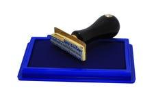 Timbratura di gomma Fotografia Stock