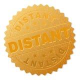 Timbre ÉLOIGNÉ d'or de médaillon illustration de vecteur