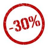 -30% timbre illustration libre de droits