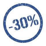 -30% timbre illustration de vecteur