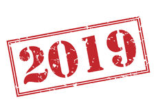 timbre 2019 Image libre de droits