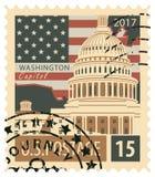 Timbre avec le capitol des USA Image stock