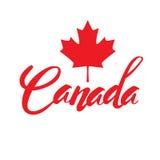 Timbre avec le nom du Canada illustration stock