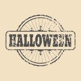 Timbre avec le texte de Halloween Image stock