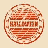 Timbre avec le texte de Halloween Photos libres de droits