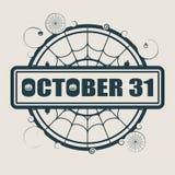 Timbre avec le texte du 31 octobre Photographie stock