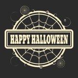 Timbre avec le texte heureux de Halloween Photo stock
