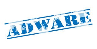 Timbre bleu d'Adware Image stock