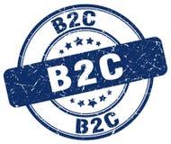 timbre bleu de b2c illustration stock
