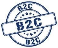 timbre bleu de b2c illustration libre de droits