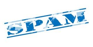 Timbre bleu de Spam Photo stock