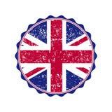 Timbre BRITANNIQUE de drapeau avec le grunge Illustration de vecteur illustration de vecteur