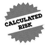 Timbre calculé de noir de risque illustration de vecteur