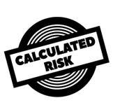 Timbre calculé de noir de risque illustration libre de droits