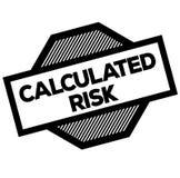 Timbre calculé de noir de risque illustration stock
