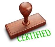 Timbre certifié illustration stock
