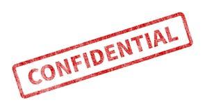 Timbre confidentiel - joint grunge rouge illustration de vecteur