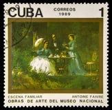 Timbre cubain utilisé image libre de droits