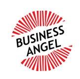 Timbre d'ange d'affaires d'impression sur le blanc illustration stock