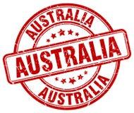 Timbre d'Australie illustration de vecteur
