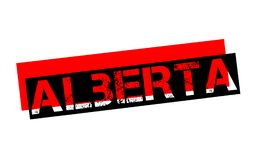 Timbre d'autocollant d'ALBERTA Images stock
