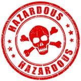 Timbre d'avertissement de vecteur de matériel dangereux illustration stock