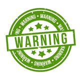 Timbre d'avertissement vert Insigne du vecteur Eps10 illustration libre de droits
