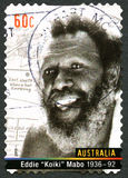 Timbre d'Eddie Koiki Mabo Australian Postage Photographie stock libre de droits
