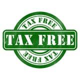 Timbre d'exempt d'impôt Photo libre de droits
