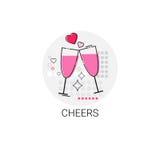 Timbre d'icône d'amour de Valentine Day Gift Card Holiday Photo libre de droits
