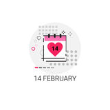 Timbre d'icône d'amour de Valentine Day Gift Card Holiday Images stock
