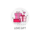 Timbre d'icône d'amour de Valentine Day Gift Card Holiday Photos libres de droits