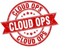 timbre d'ops de nuage Photo libre de droits