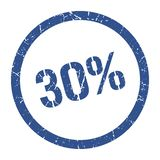 timbre de 30% illustration libre de droits