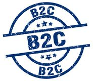 Timbre de B2c illustration de vecteur
