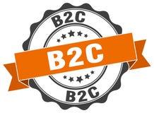 Timbre de B2c signe sceau Images libres de droits