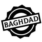 Timbre de BAGDAD sur le blanc illustration stock