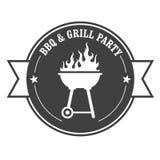 Timbre de barbecue - BBQ et gril Image libre de droits