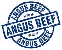 Timbre de boeuf d'Angus illustration stock