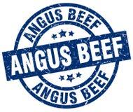 Timbre de boeuf d'Angus illustration libre de droits