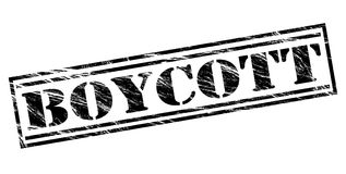 Timbre de boycott illustration stock