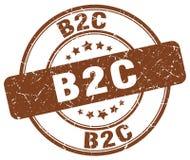 timbre de brun de b2c Photographie stock