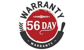 timbre de conception d'illustration de garantie de 56 jours illustration de vecteur