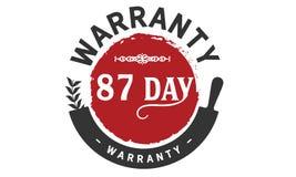 timbre de conception d'illustration de garantie de 87 jours illustration de vecteur