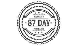 timbre de conception d'illustration de garantie de 87 jours illustration stock
